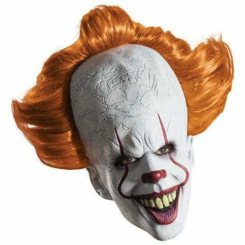 Pennywise Overhead Mask with Attached Hair Adult