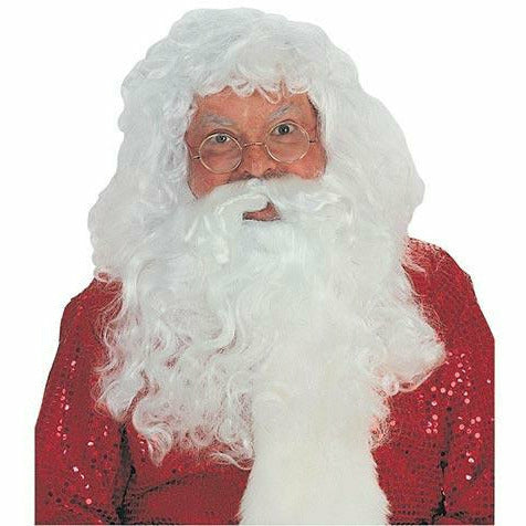 Adult Santa Beard and Wig Accessory Set