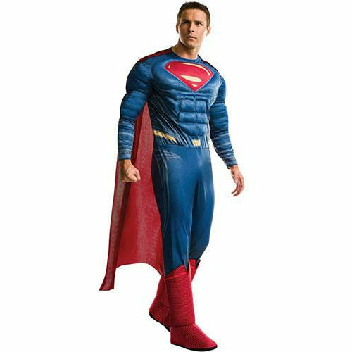 Mens Superman Deluxe Costume - Justice League