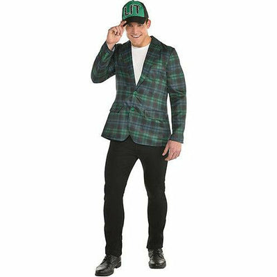Adult Green Plaid Blazer