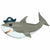 "307 Ahoy Pirate Shark Jumbo 41"" Mylar Balloon"