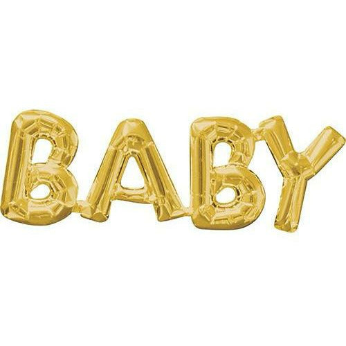 "572 Gold Baby Air-Filled Jumbo 25"" Mylar Balloon"