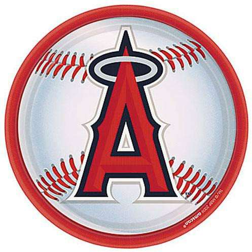 Los Angeles Angels Lunch Plates 18ct