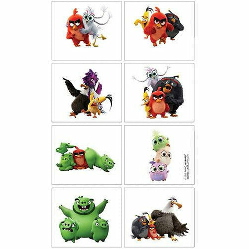 Angry Birds 2 Tattoos 1 Sheet