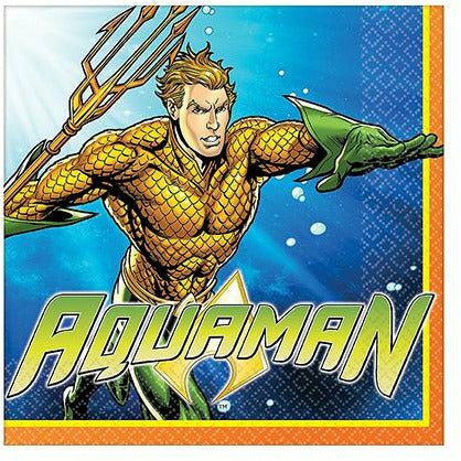 Aquaman Lunch Napkins 16ct