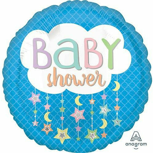 "E003 Baby Shower Moon 17"" Mylar Balloon"
