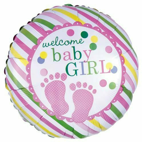 "553 Pink Welcome Baby Girl 17"" Mylar Balloon"