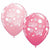 "Baby Girl Pink White Dots A Round 11"" Latex Balloon"