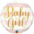 "534 Striped Baby Girl 18"" Mylar Balloon"