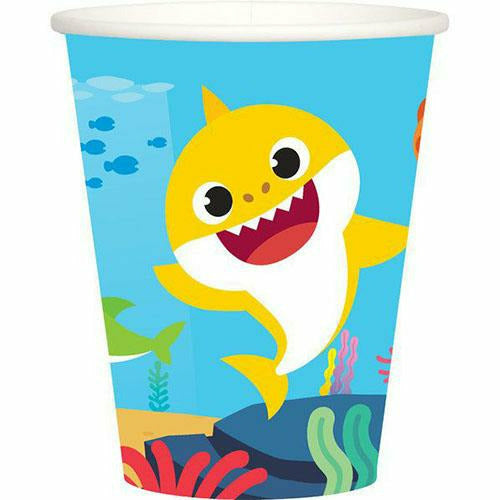 Baby Shark 9oz Cups 8ct