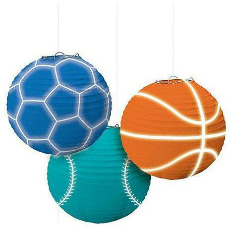 Birthday Baller Paper Lanterns 3ct