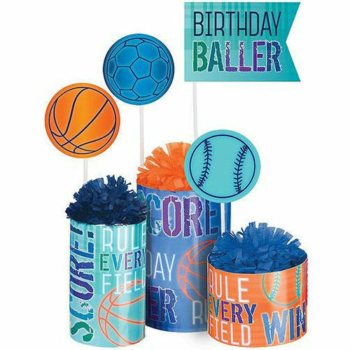 Birthday Baller Centerpiece Kit 3pc