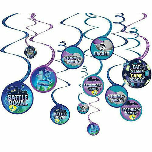 Battle Royal Swirl Decorations 12ct
