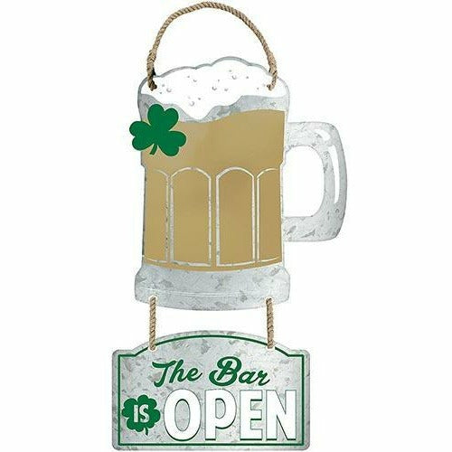 Beer Mug Cutout Metal Hanging Sign