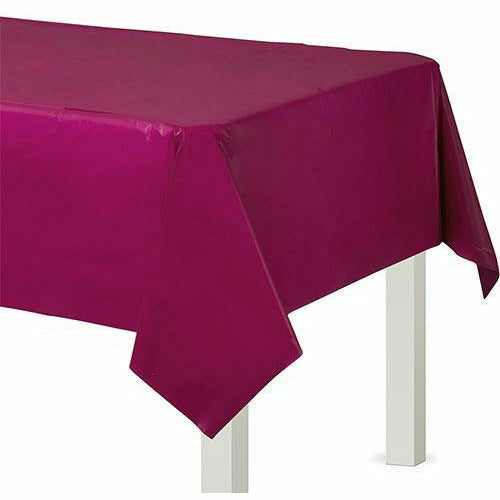 Berry Plastic Table Cover 54x108