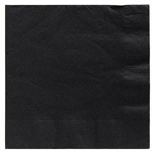 Big Party Pack Black Beverage Napkins 125ct