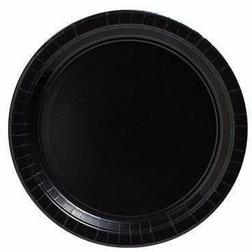 Big Party Pack Black Paper Dessert Plates 50ct