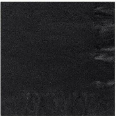 Big Party Pack Black Lunch Napkins 125ct