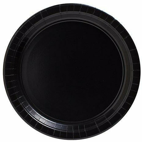 Big Party Pack Black Paper Lunch Plates 50ct