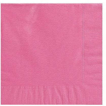 Big Party Pack Bright Pink Lunch Napkins 125ct