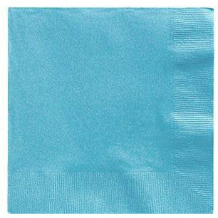 Big Party Pack Caribbean Blue Beverage Napkins 125ct