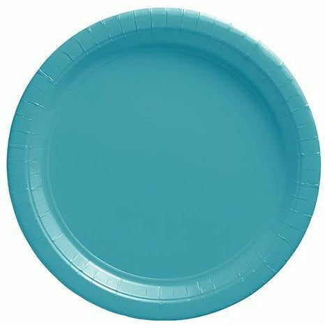 Big Party Pack Caribbean Blue Paper Lunch Plates 50ct