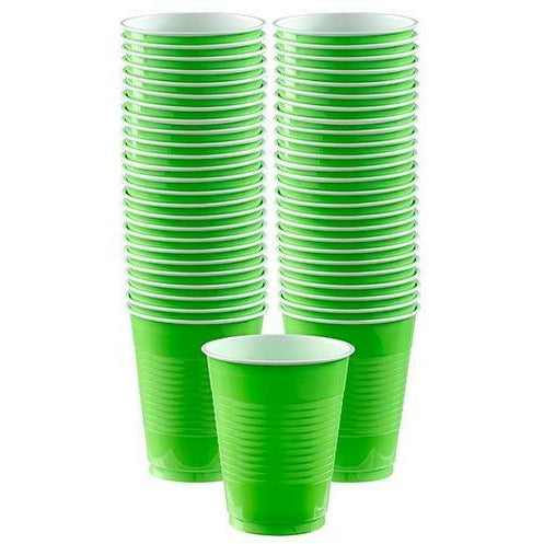 Big Party Pack Kiwi Green Plastic Cups 50ct