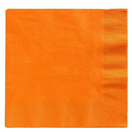 Big Party Pack Orange Lunch Napkins 125ct