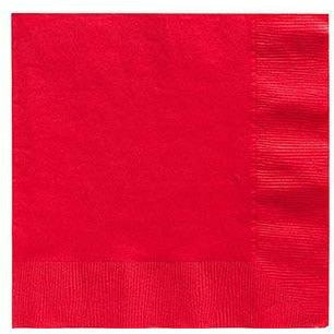 Big Party Pack Red Beverage Napkins 125ct