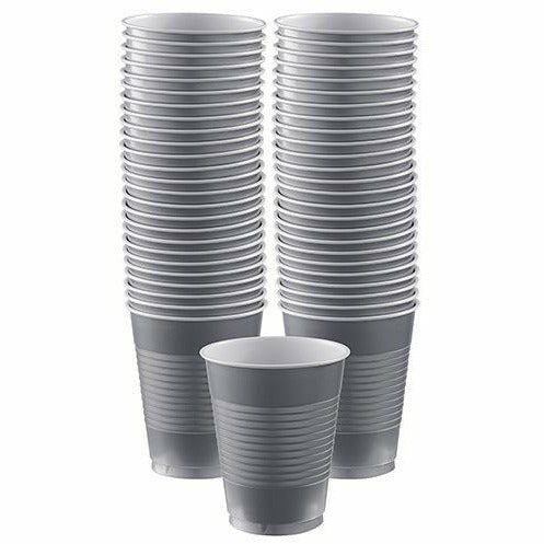 Big Party Pack Silver Plastic Cups 50ct