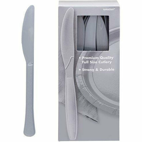 Big Party Pack Silver Premium Plastic Knives 100ct