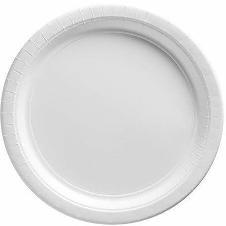Big Party Pack White Paper Lunch Plates 50ct