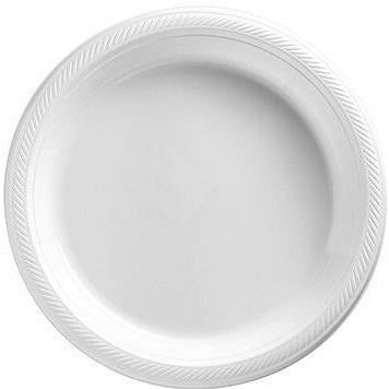 Big Party Pack White Plastic Dessert Plates 50ct