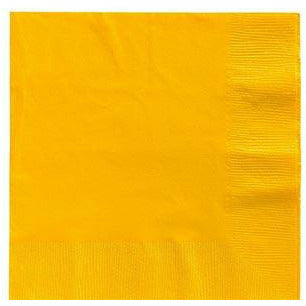 Big Party Pack Sunshine Yellow Beverage Napkins 125ct