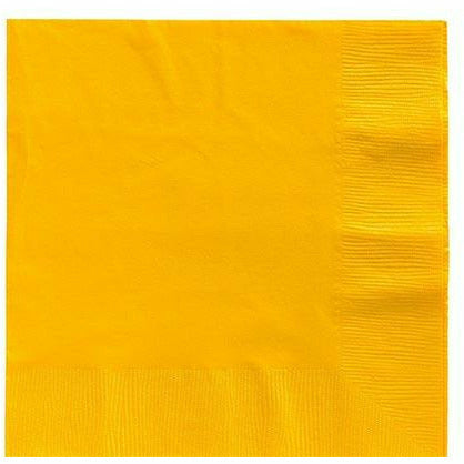 Big Party Pack Sunshine Yellow Lunch Napkins 125ct