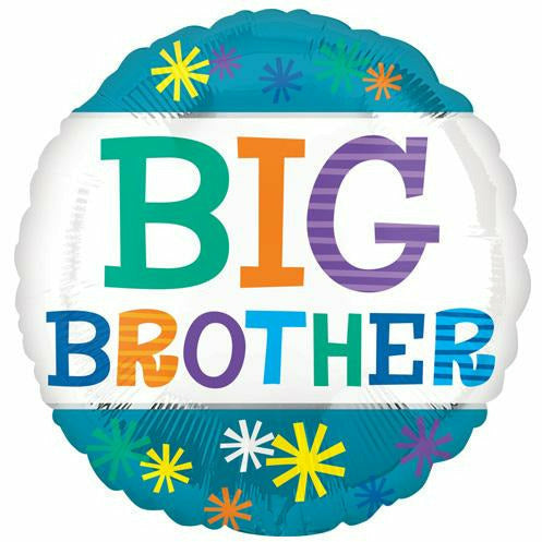 "538 Blue Big Brother 17"" Mylar Balloon"