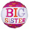"539 Pink Big Sister 17"" Mylar Balloon"