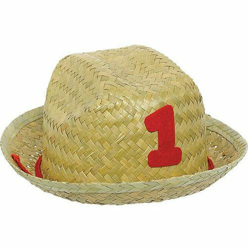 Mini 1st Birthday Straw Hat