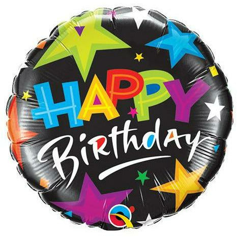 "332 Color Stars Happy Birthday Jumbo 36"" Mylar Balloon"