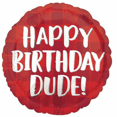 "475 Happy Birthday Dude 18"" Mylar Balloon"