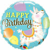 "273 Llama Happy Birthday 18"" Mylar Balloon"