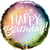 "394 Rainbow Ombre Happy Birthday 18"" Mylar Balloon"