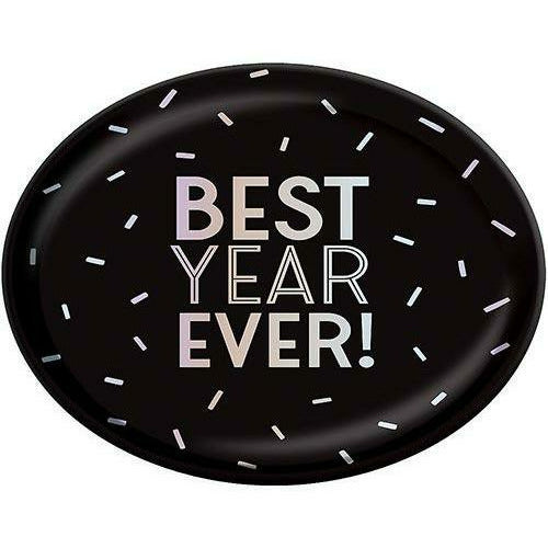 BLACK AND IRIDESCENT BEST YEAR EVER PLATTER