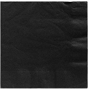Black Beverage Napkins 50ct
