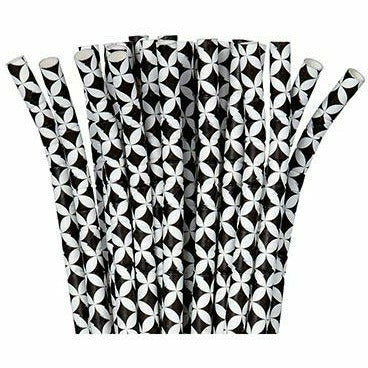 Black Diamond Flexible Paper Straws 24ct
