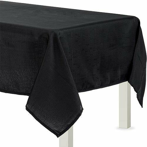 Black Fabric Tablecloth