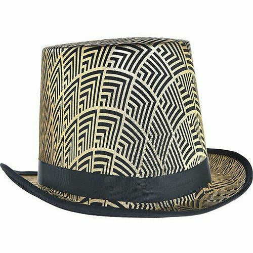 Black & Gold Art Deco Top Hat