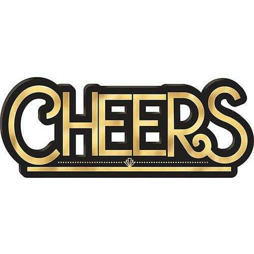 Black & Gold Cheers Block Sign