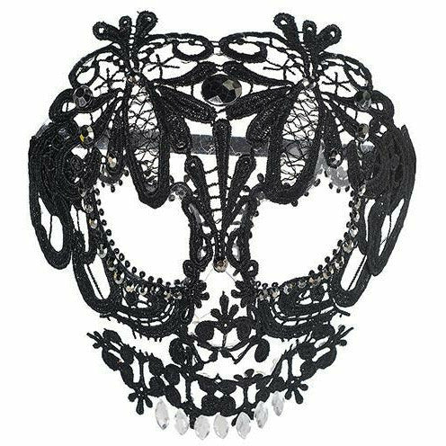 Black Lace Skeleton Mask - R9