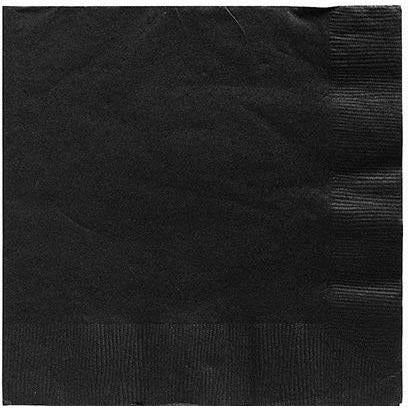 Black Lunch Napkins 50ct